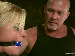 Blowjob and Fingering Fun with Ginger Lynn in Wild Bondage Video
