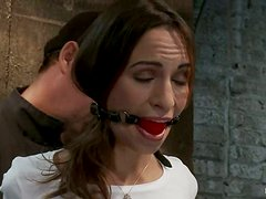 That is some different bondage session for Amber Rayne