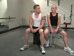 BDSM Gay Action in the Gym with Different Workout Methods