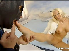 Banging Stacy Silver's Pussy and Asshole with His Pants On