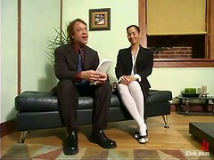 Office Domination Sex for Bruentte Beauty Isis Love