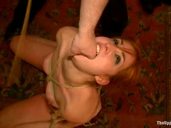 Bella Rossi and Cherry Torn get beaten and fucked at a banquet