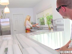 Rikki Six licks a cock before taking a stunning ride on it