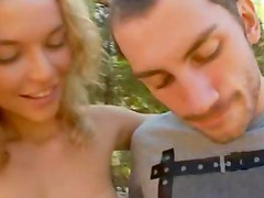 The most erotic threesome in a forest