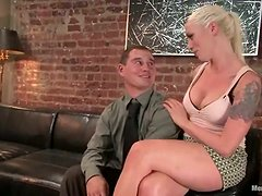 Lorelei Lee Rides a Dude's Dick after Fucking His Ass with a Strapon