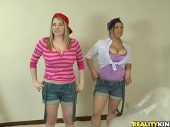 Two Adorable Chicks In Amazing Threesome