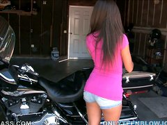 Naughty Latina Teen Jynx Maze Giving a Great Blowjob in POV