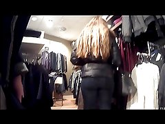 German teen ass in jeans at h&m