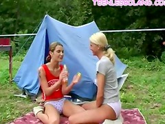 Lesbo Teens Go Camping
