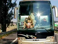 Sucking and fucking on party bus