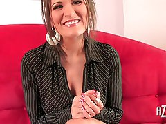 Austin Kincaid plays with her tight pussy and great boobies