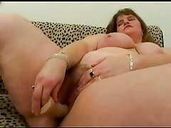 Fat BBW friend with nice tits sucking and riding cock. P1