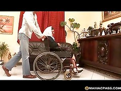 Wheelchair after a hard fuck