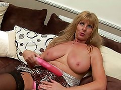 HOT British granny with big saggy tits