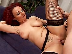 Sexy redhead mature Hot busty mom