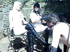 TWO HOT British Riding mistresses train their pony