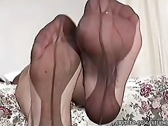 Dirty Blond Shows Of Her Toes in Motel Room.