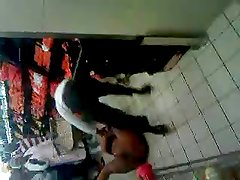 South African woman strips in supermarket