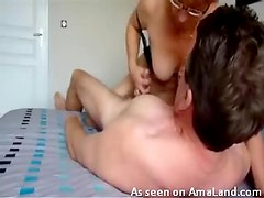 Horny wife rides his face