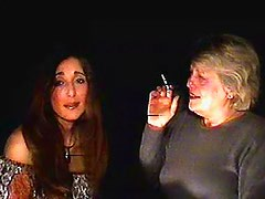 Mature and milf smoke together