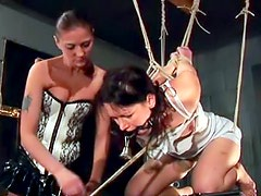 Pain and pleasure mix together in BDSM video