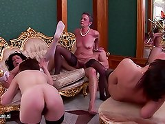 4 old moms fucked by just 1 lucky guy