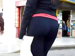Beautiful argentinian girl in black leggings