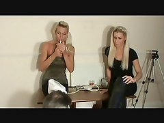 Mistress Tia And Elise smoking