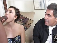 Old hubby watch his wife pussy destroyed by black