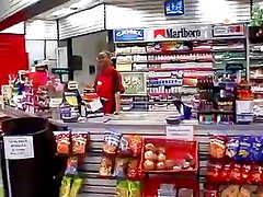 Convenience Store Clerk Sucks Customer