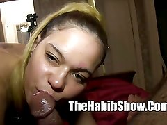 18 yr Red boned pussy banged nuttin sperm in mouth