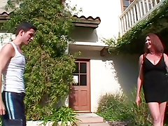 Hairy Big Titted Oldie Anastasia Fucks The Lawn Boy