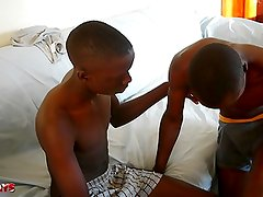 Cute Black African Twinks on Sucking