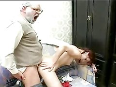 Grandpa Gives A Teen A Thick Load