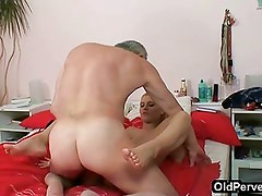 Old plumber fucks Nubile blonde
