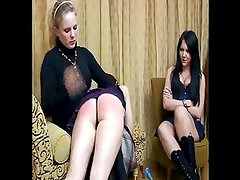 daughter+girlfriend are spanked 02