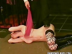 Busty slavegirl Emilys extreme bdsm and whipping torture