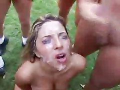 Cum all over the Face of Fabians Mom