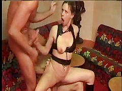 FRENCH CASTING 18blonde anal in threesome double penetration