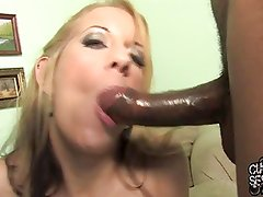 Wife made her cuckold a black jizz cleaner
