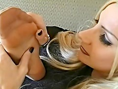 Erotic nylon play in hot video