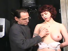 Big breasts girl loves tit torture
