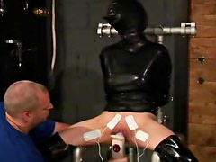 Extensive tit torture and electro play