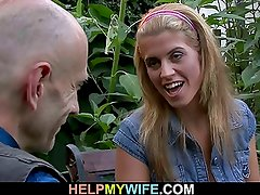 Hubby watches his wife rides stranger's shaft