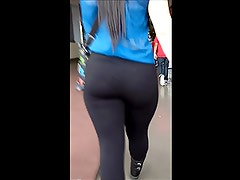 big but in black spandex