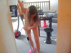 nude vacuuming