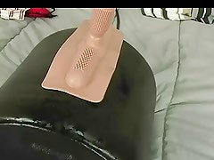 Soaking the bed (Sybian)