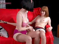 18 year old Keira's first lesbian sex