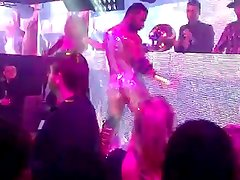 Real CFNM show of Naked DJ