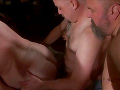 daddy bear fucked at sex party